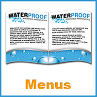 Waterproof Printing Menus